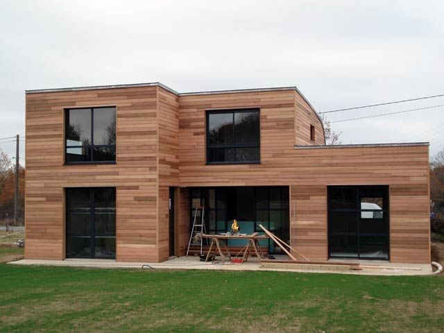 maison contemporaine en bois plan